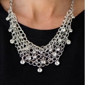 Fishing for compliments statement necklace